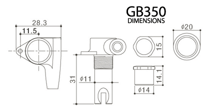 GOTOH GB350 Dimension Diagram