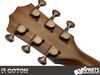 GOTOH SGS510Z-S5-ACU Aged Copper 1:18 - Installed, rear view